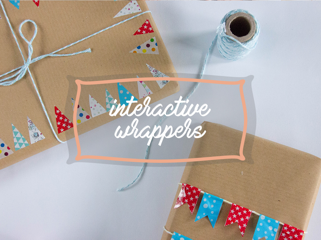 DIY Gift Wrapping interactive wrappers