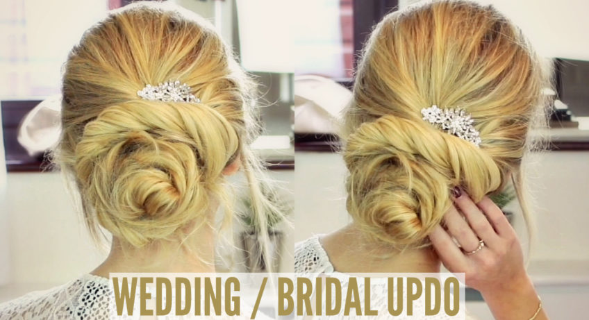 beautiful bridal bun tutorial