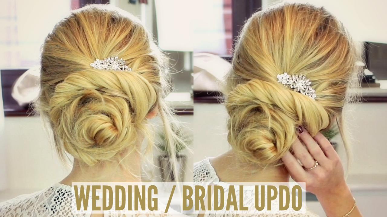 beautiful bridal bun tutorial