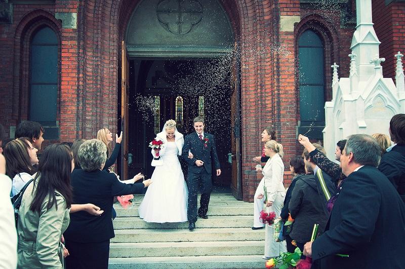 Wedding Celebrant walking down the steps