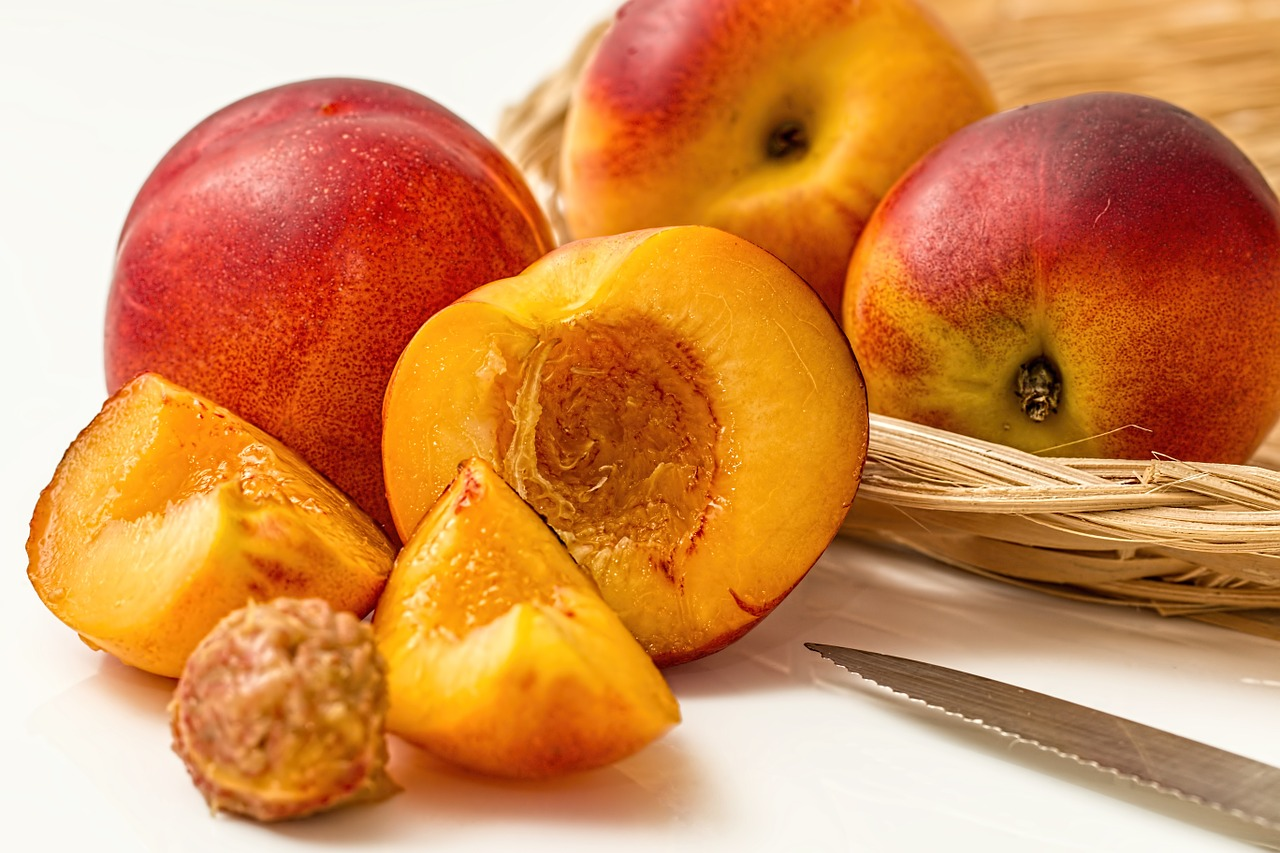 Wedding fruit peaches