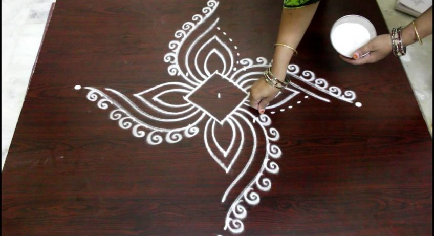 rangoli design with dots