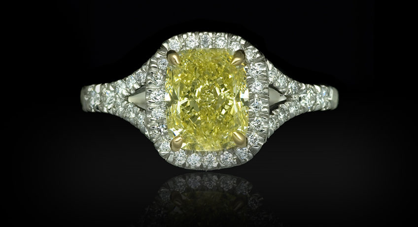A Yellow Canary Diamond