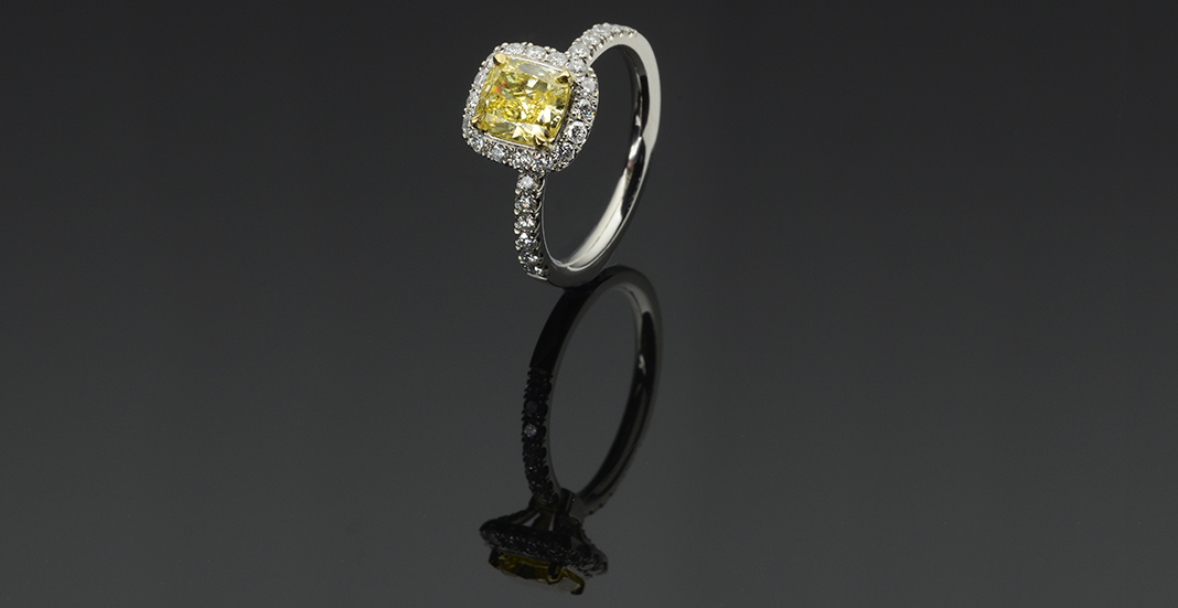 Cramming for Custom Engagement Ring Purchase yellow