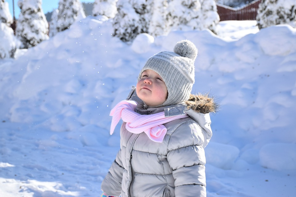Various types of winter jackets for girls